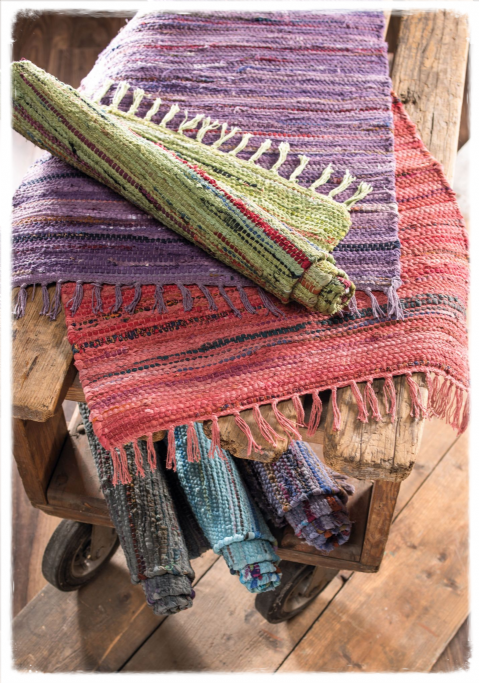 Overdyed Recycled Cotton Rag Rugs - 75x120cm